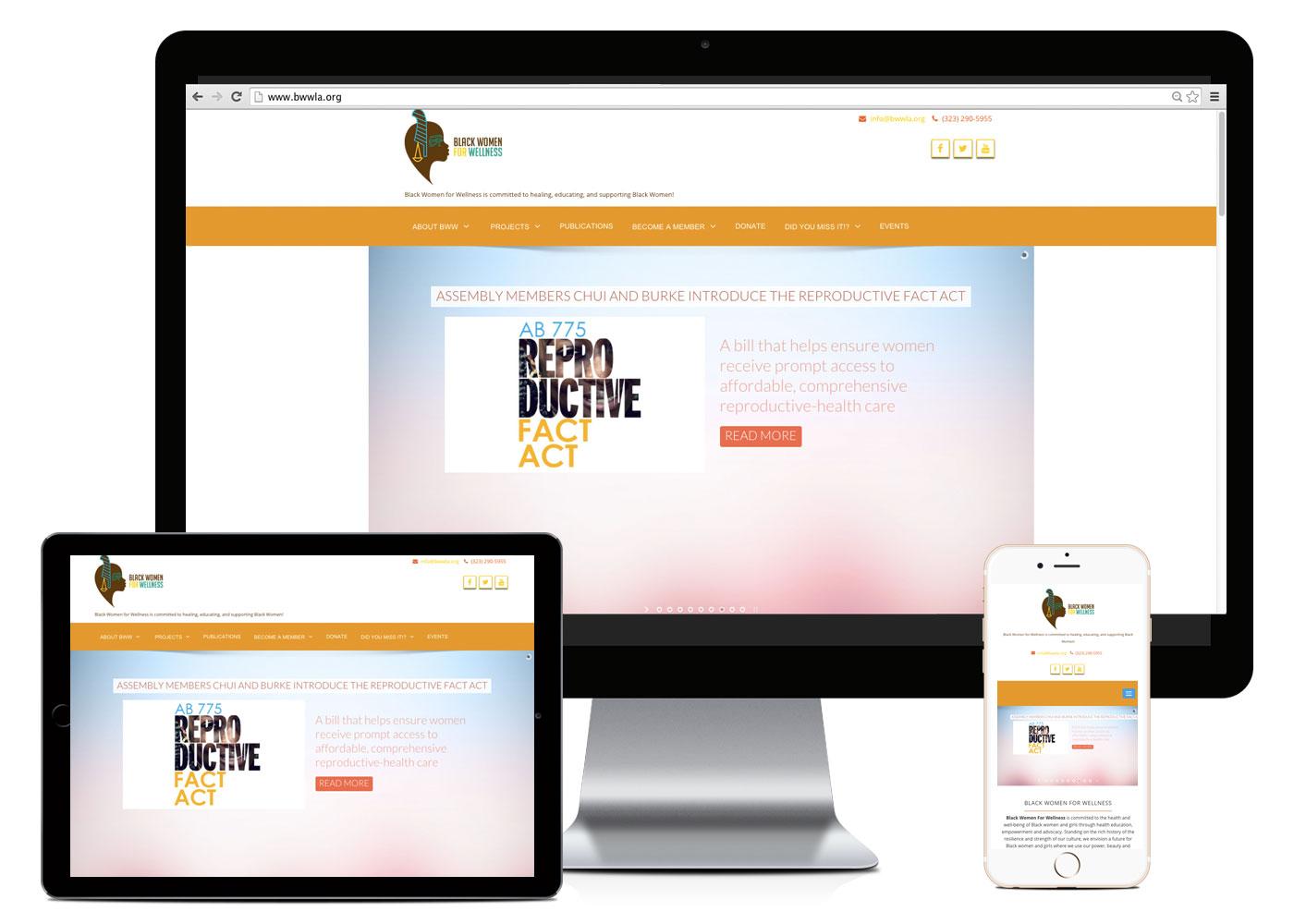 Black Women for Wellness Website Layout