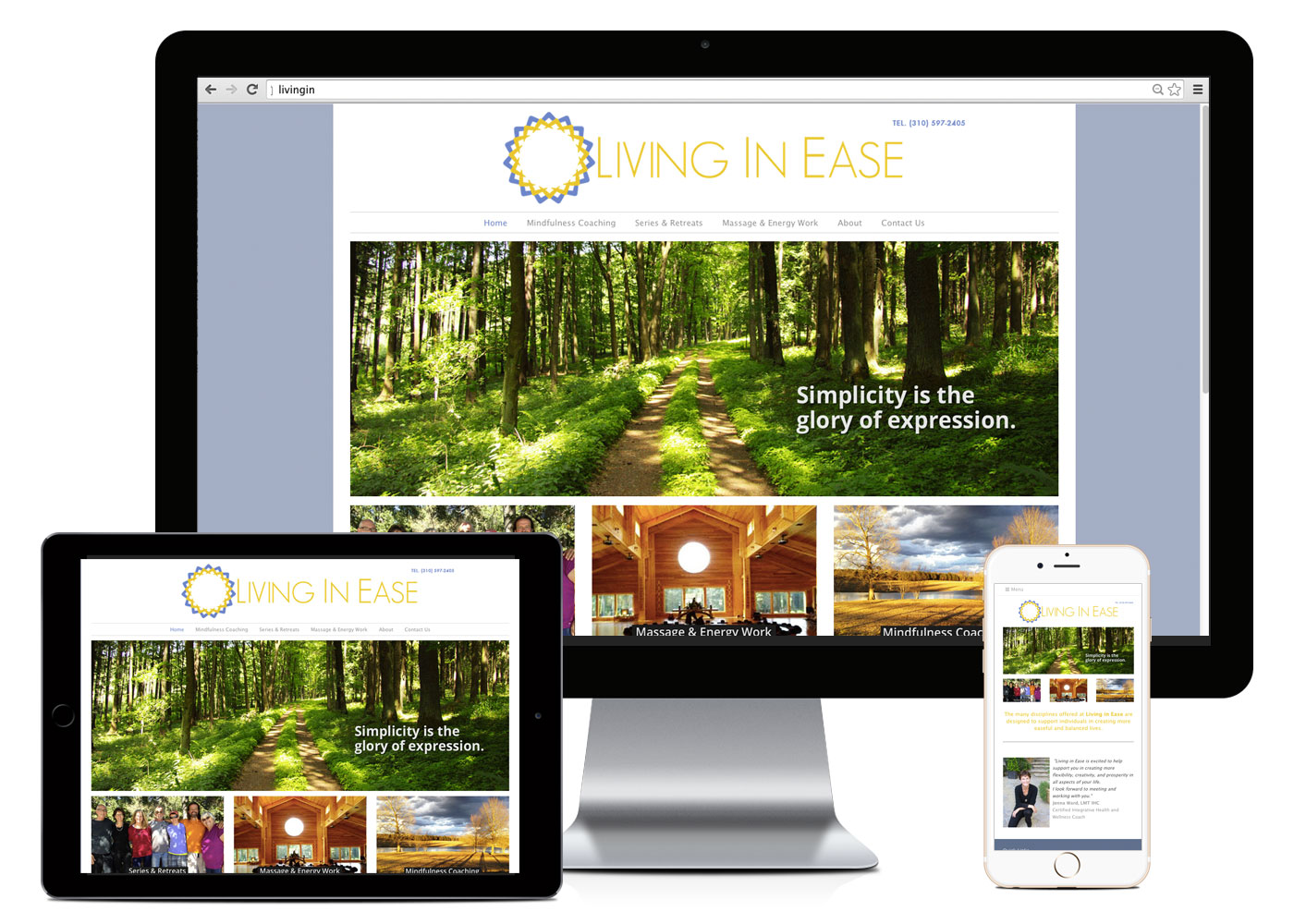 Living in Ease Website Layout